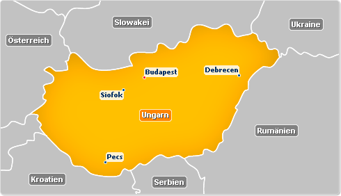 Hungary map