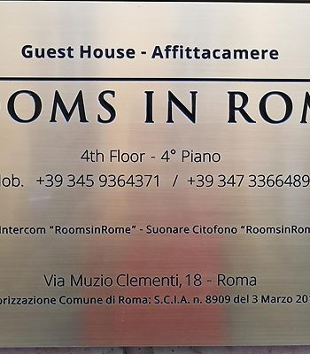 Rooms In Rome photos Exterior Hotel information