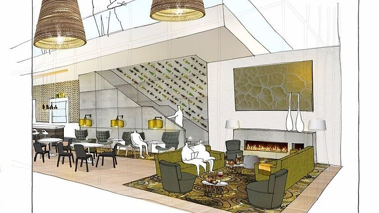 Element Amsterdam Restaurant Olivas Lounge - Rendering