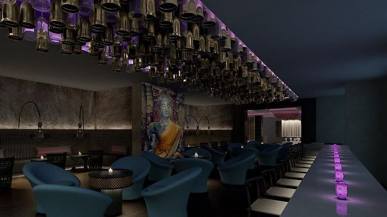Sheraton Hyderabad Hotel Restaurant Chime Rooftop Lounge Bar - Rendering